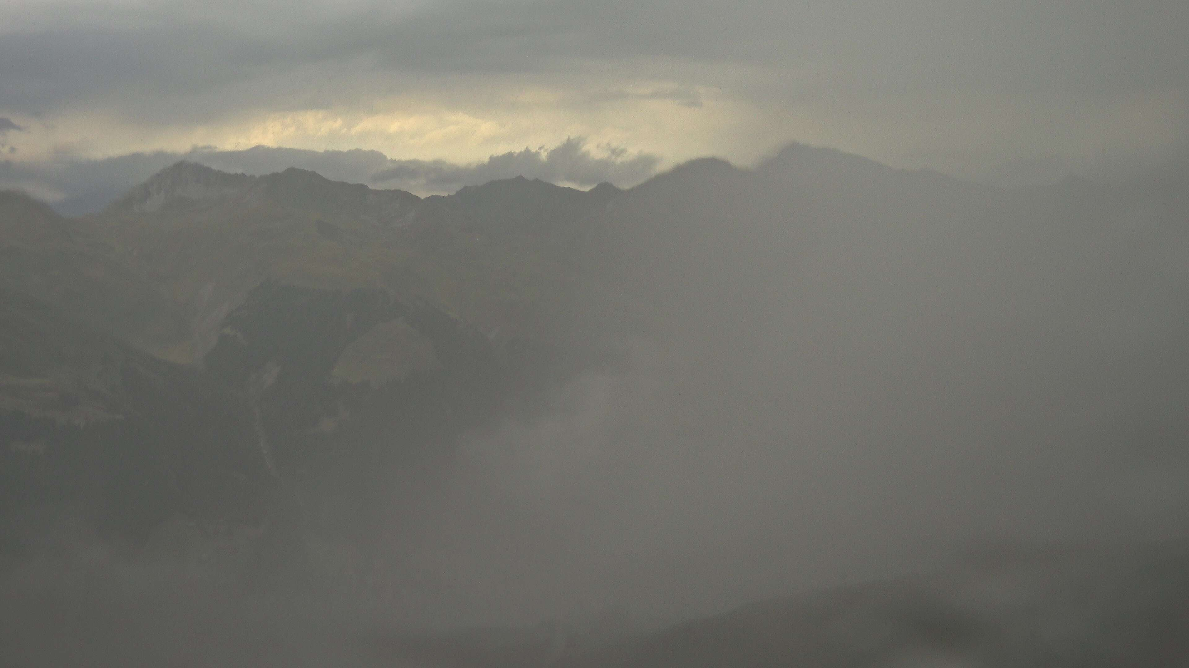 Jakobshor, view summit and Davos