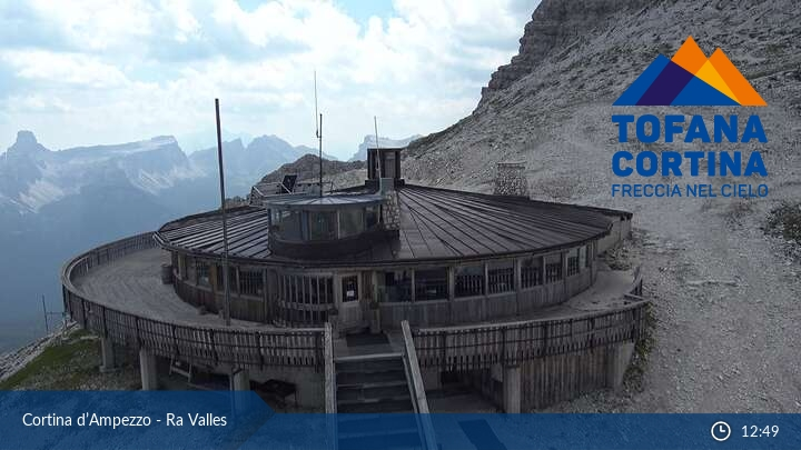 Webcam Cortina d´Ampezzo, Ra Valles - Tofana Cortina Freccia nel Cielo
