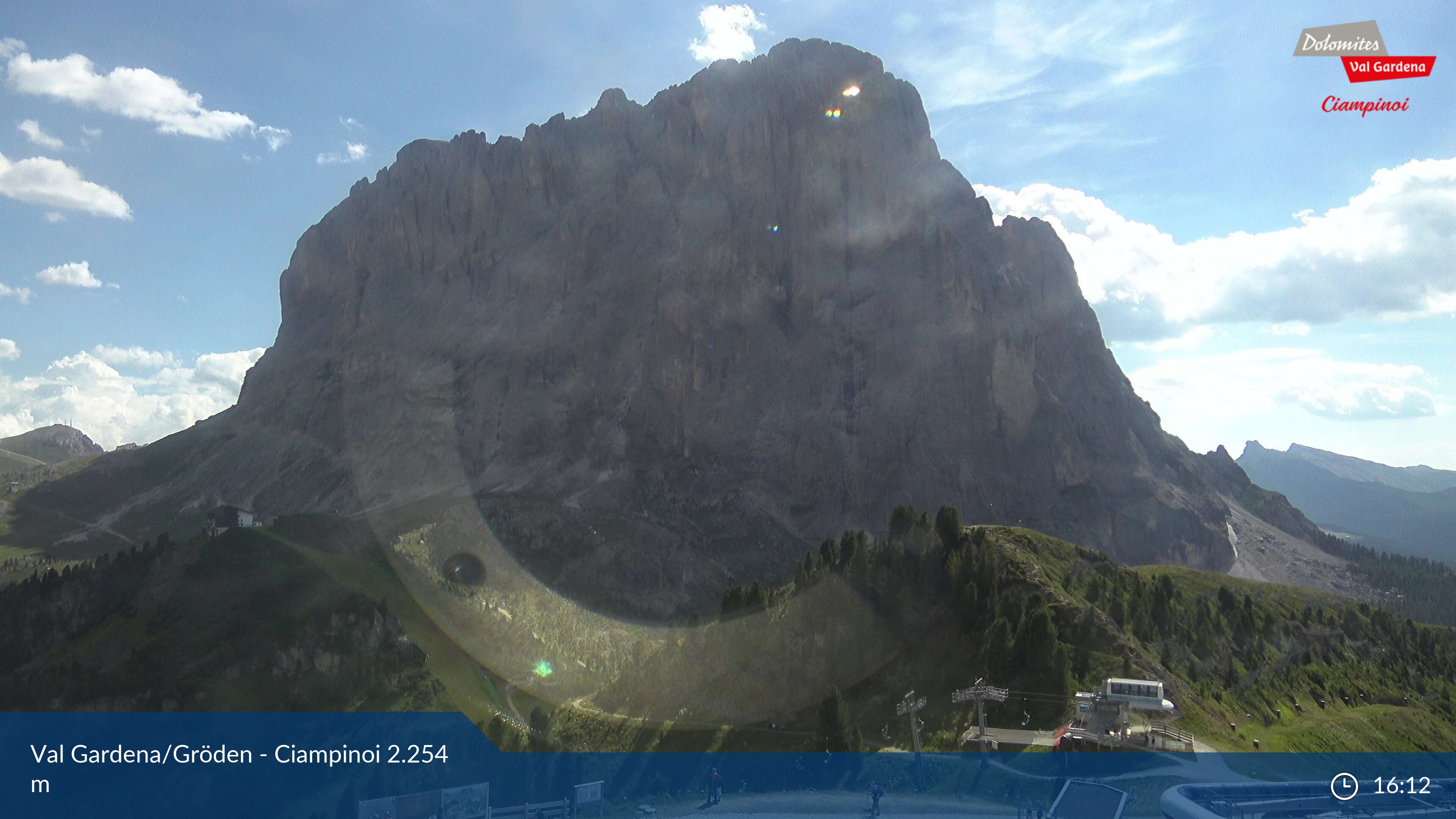 Selva Val Gardena webcam - Ciampinoi ski station 2.245
