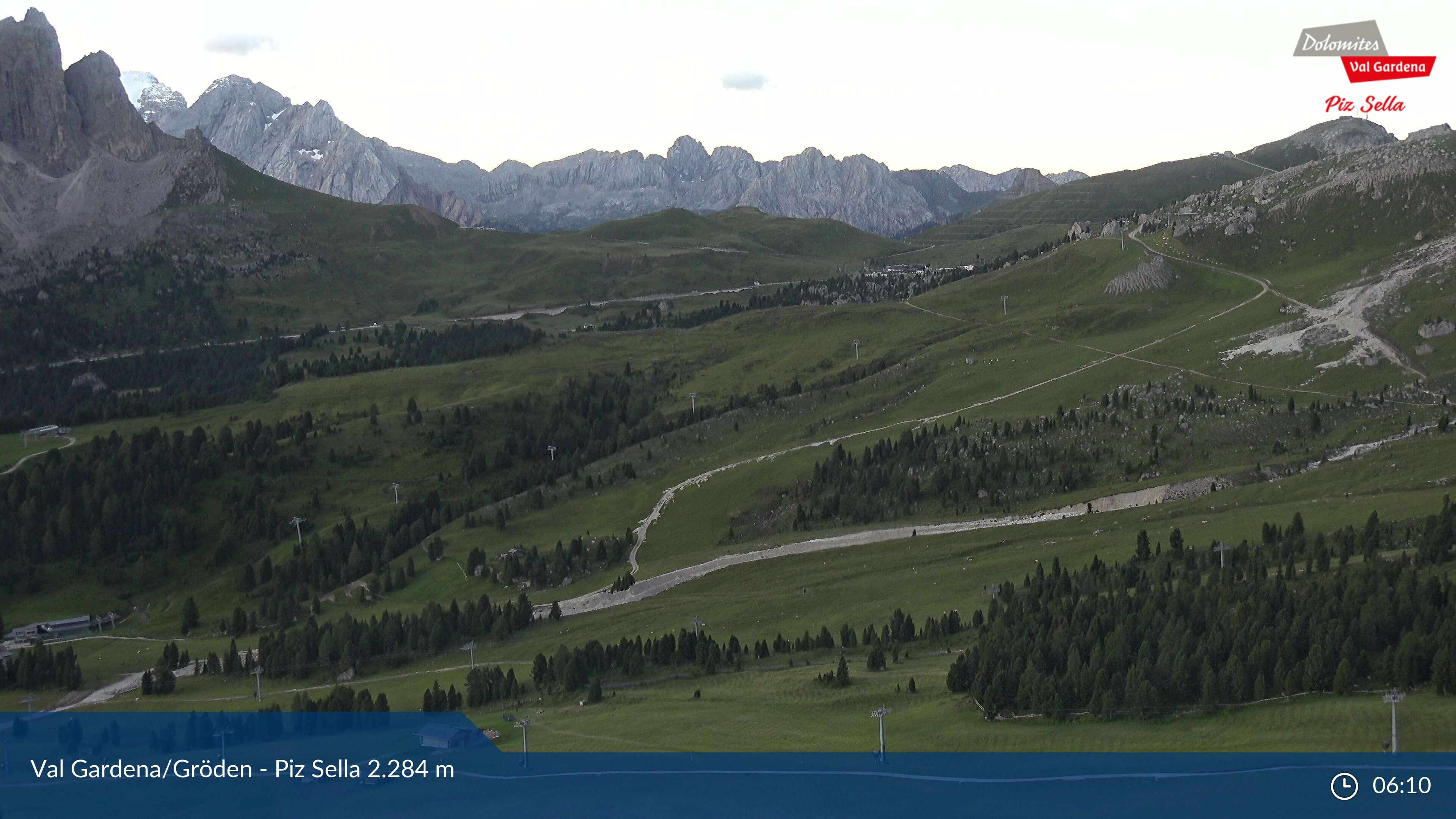 Selva Val Gardena webcam - Piz Sella / snowpark
